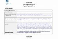 Short Proposal Template  Monzaberglaufverband within Short Proposal Template
