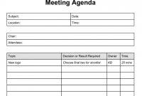 Simple Agenda Format Meeting Agenda Template L Schedule With Action for Simple Meeting Agenda Template