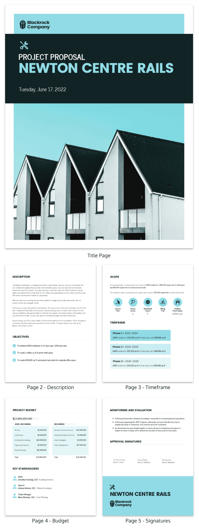Simple Project Proposal Template  Venngage Within Simple Project Proposal Template