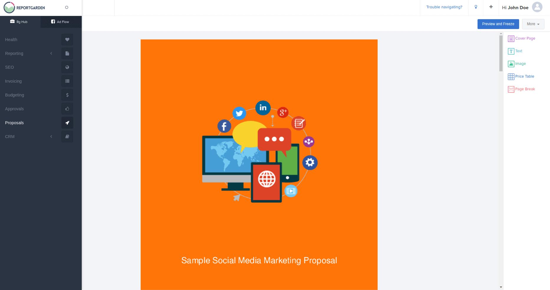 Social Media Proposal  Social Media Proposal Template  Reportgarden In Social Media Proposal Template