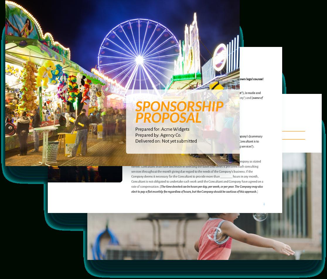 Sponsorship Proposal Template  Free Sample  Proposify Intended For Sponsor Proposal Template