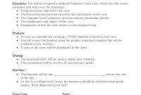 Supreme Court Case Presentationproject within Case Presentation Template