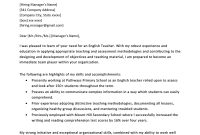 Teacher Cover Letter Example  Writing Tips  Resume Genius in Material Letters Template