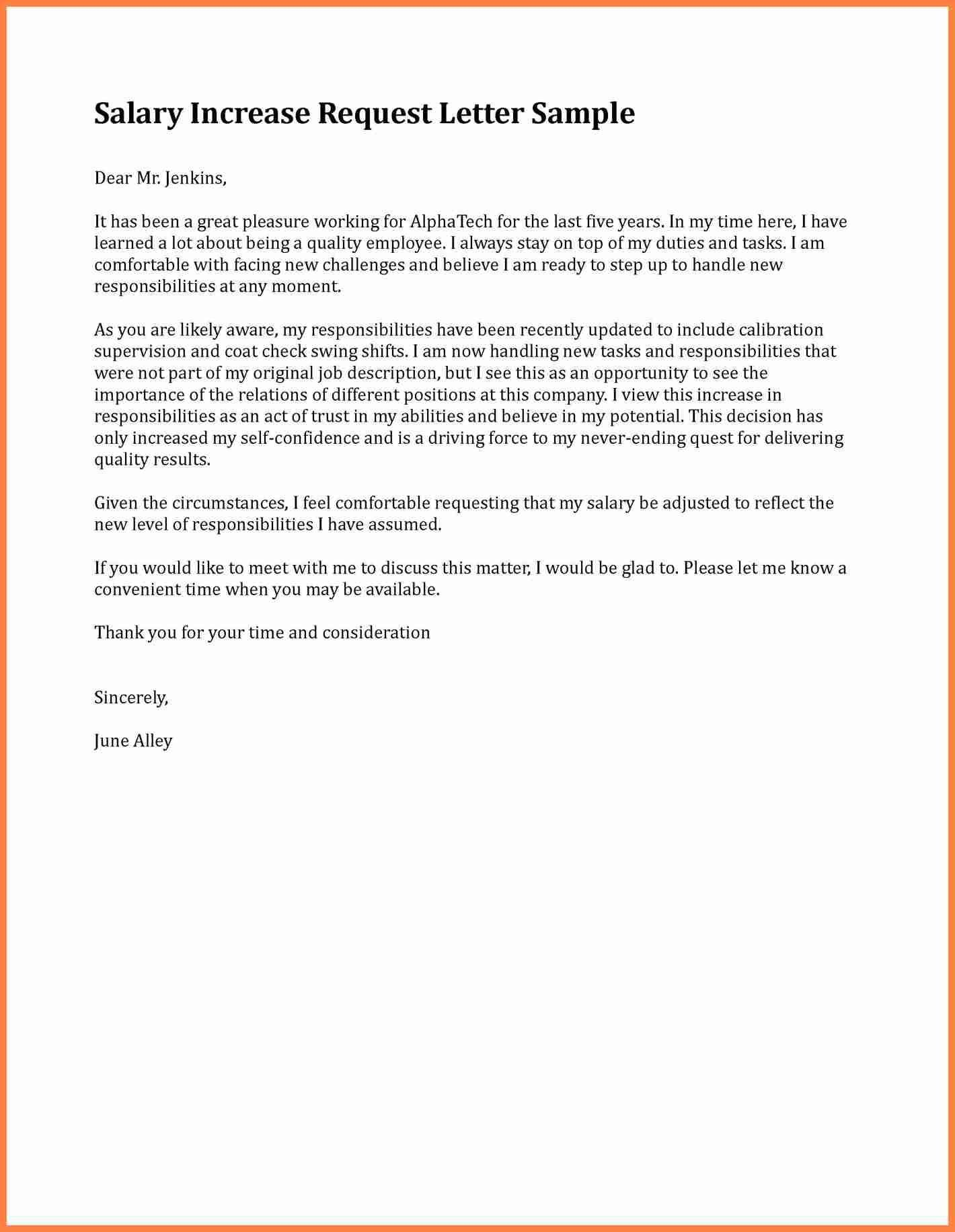 Template Ideas Salary Increase Letter Sample Asking For Raise With Salary Increase Letter To Employer Template