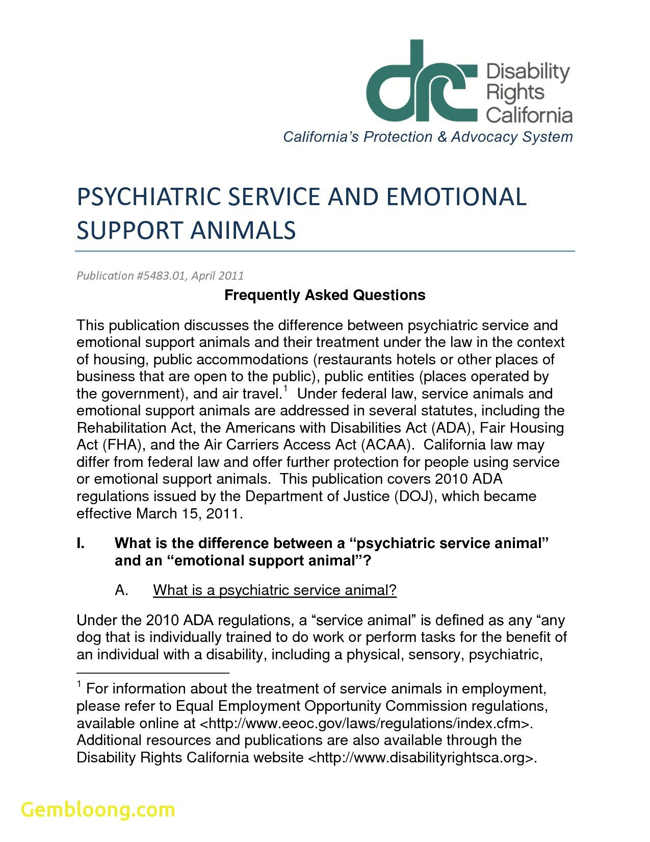 Therapy Animal Letter  Hrsport For Emotional Support Animal Letter Template