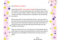 Tooth Fairy Letter  Gplusnick throughout Tooth Fairy Letter Template