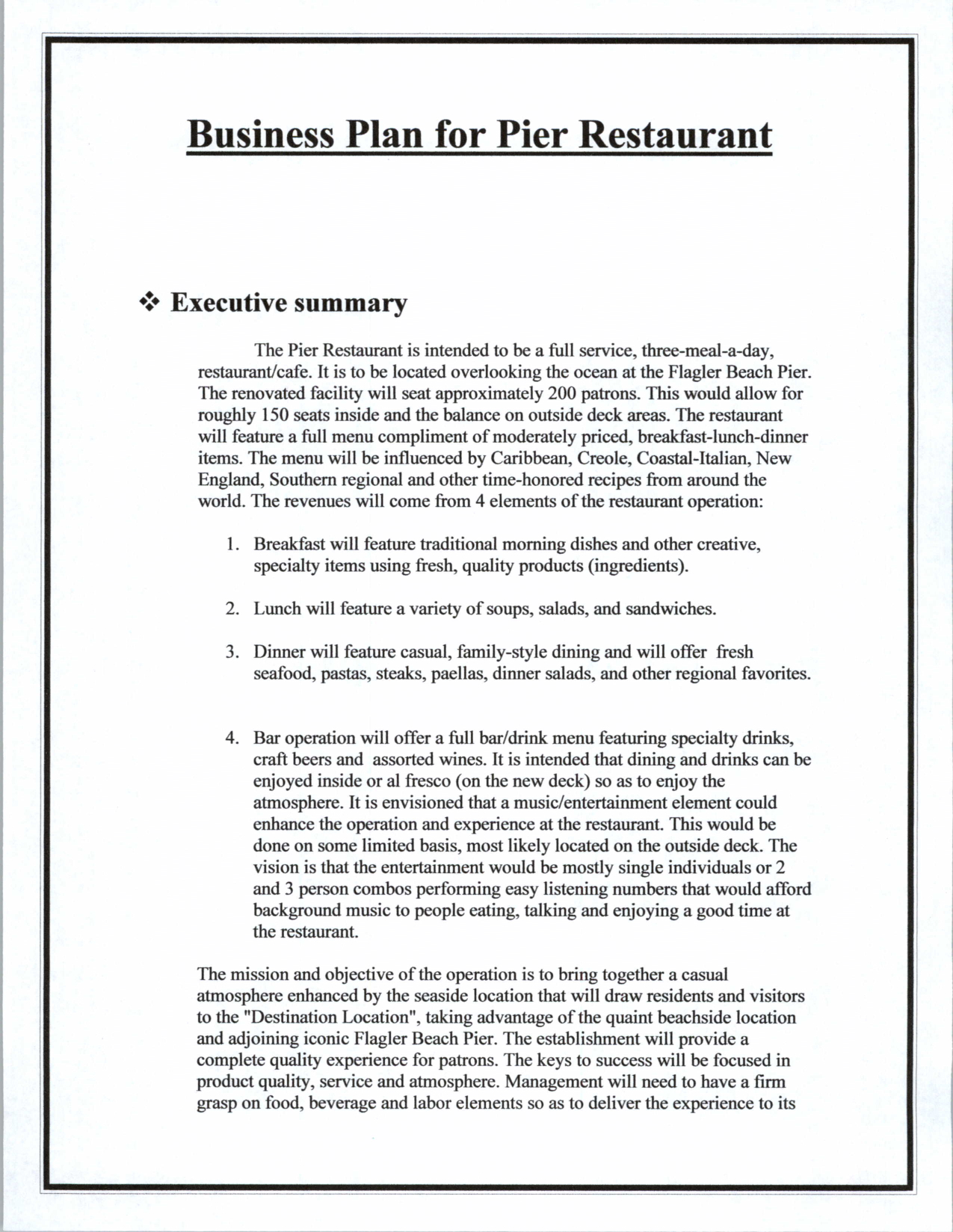 Top  Resources To Get Free Restaurant Business Plan Templates Bar In Restaurant Business Proposal Template