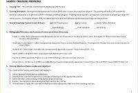 Training Proposal Template  Document  Proposal Templates Proposal intended for Training Proposal Template
