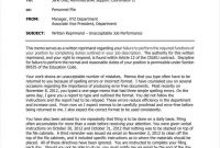 Verbal Warning Followup Letter Templates  Free Samples for Letter Of Reprimand Template