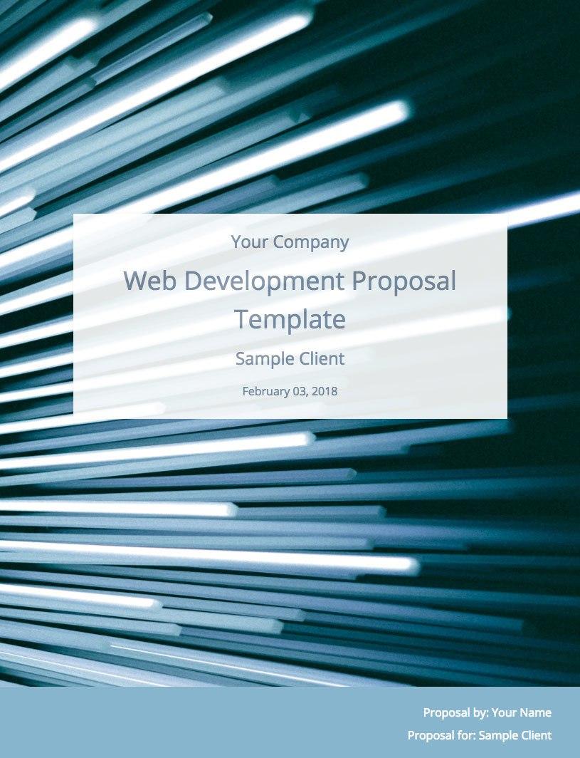 Web Development Proposal Template Free Sample  Bidsketch Inside Website Development Proposal Template