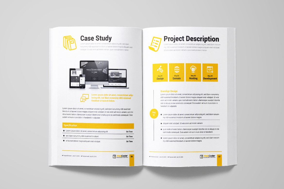 Web Proposal For Web Design And Development Agency Corporate With Website Development Proposal Template