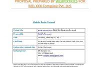 Webdesignproposalsamplewebpixtrics  Via Slideshare regarding Website Design Proposal Template