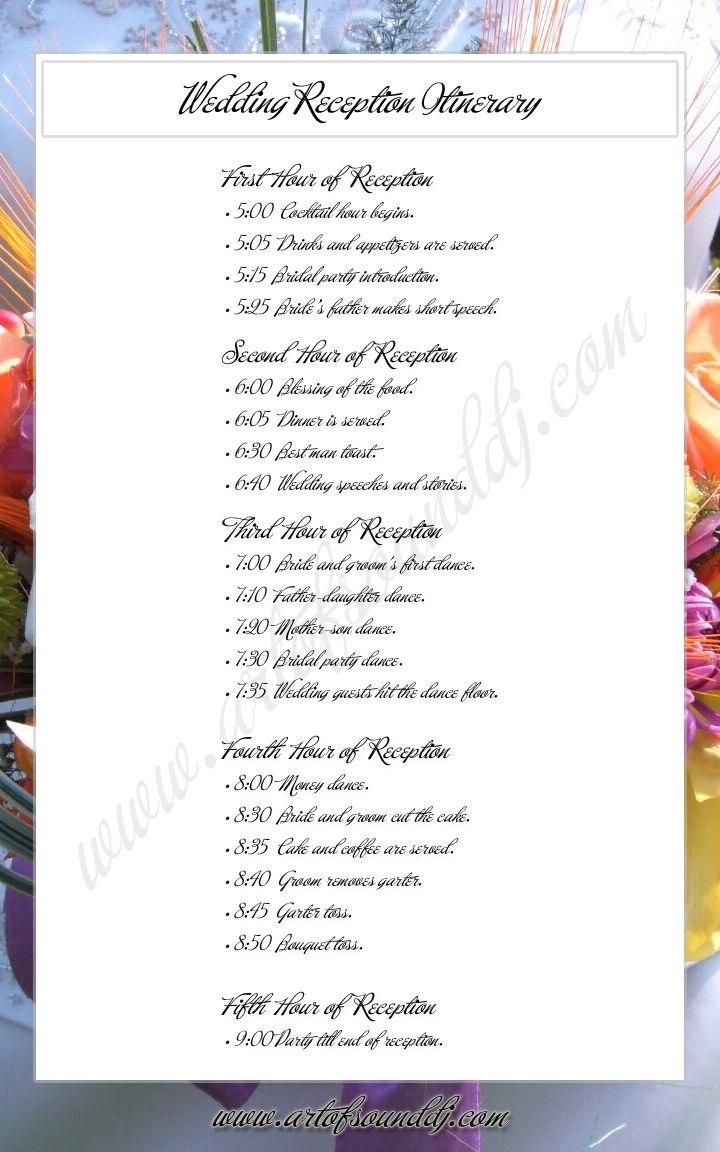 Wedding Itinerary Examples  Remedio Amioron Serve Pra Q  痞客邦 For Wedding Agenda Templates