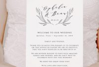 Wedding Welcome Bag Letter Template And Printable Wedding Itinerary You  Edit In Templett within Welcome Bag Letter Template