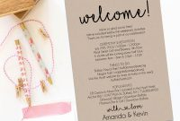 Wedding Welcome Letter Template Ideas Il Fullxfull regarding Wedding Welcome Letter Template