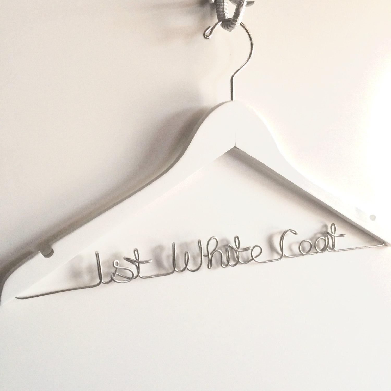 White Coat Ceremony Gift Doctor Hanger Medical School  Etsy Within Wire Hanger Letter Template