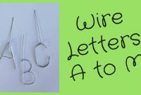 Wire Letters Tutorial A To M  Youtube throughout Wire Hanger Letter Template