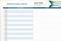 Workshop Agenda Template  Excel Template  Free Download pertaining to Workshop Agenda Template