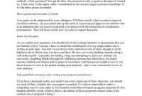 Writing A Successful Conference Paper Proposal throughout Conference Proposal Template