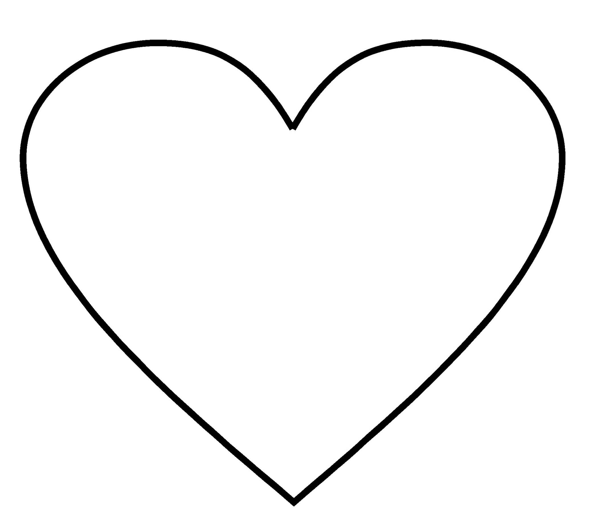 Best Photos Of Free Printable Heart Shape Template Intended For Free Printable Heart Templates