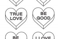Coloring Book  Valentine Conversation Hearts Coloring Pages Intended For Free Printable Valentine Templates