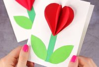 D Heart Flower Card With Flower Template  Valentines And With Regard To Paper Heart Flower Craft With Template