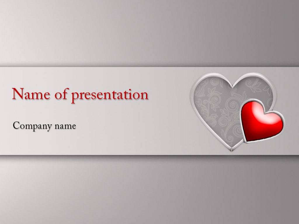 Download Free Big Heart Powerpoint Template For Your Throughout Free Love Heart Ppt Template