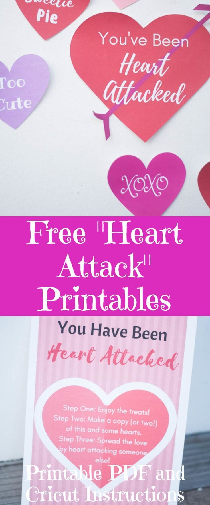 Free Heart Attack Printables  Valentine's Day Printable With Regard To Valentine Heart Attack Idea With Free Printable Heart Template