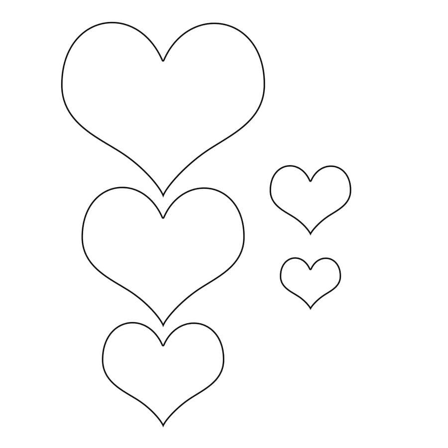 Free Printable Heart Templates  Download Heart Templates Inside Free Printable Heart Templates
