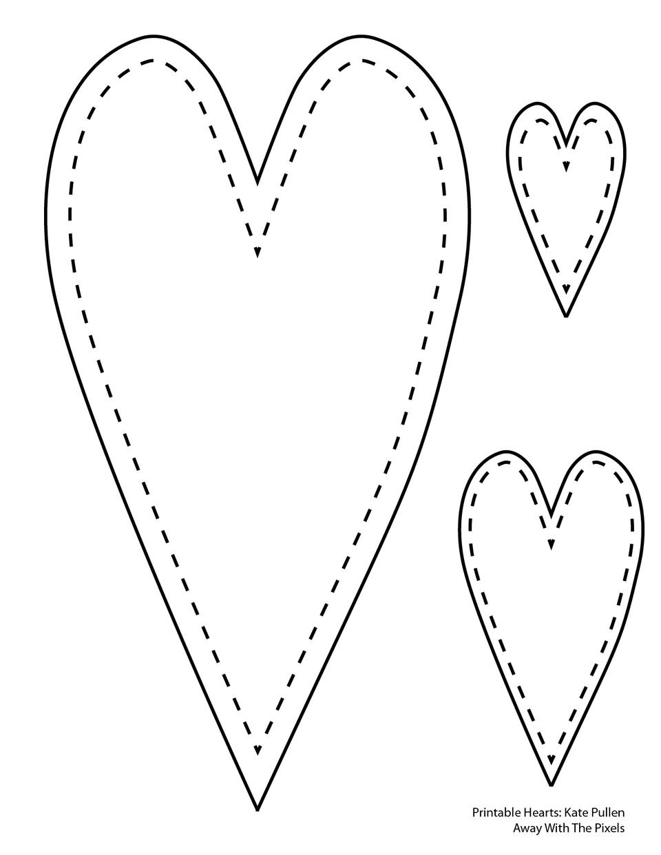 Free Printable Heart Templates In Free Printable Heart Templates