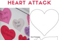 Give A Valentine Heart Attack To Your Kids To Let Them Know Pertaining To Valentine Heart Attack Idea With Free Printable Heart Template