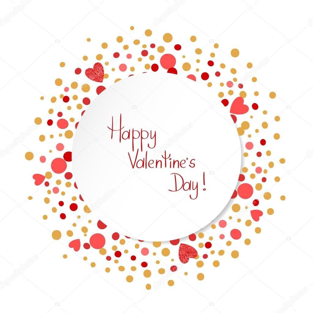 Happy Valentines Day Card Template — Stockvektor © Afanasia Regarding Valentine's Day Card Printable Templates