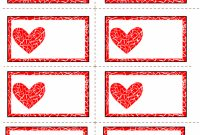 Labels With Mosaic Heart  Valentine Template Valentines regarding Free Printable Valentine Templates