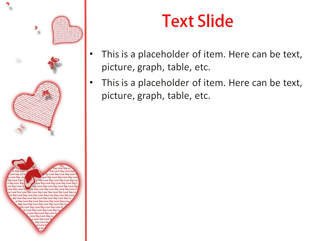 Love Heart Powerpoint Template For Impressive Presentation In Free Love Heart Ppt Template