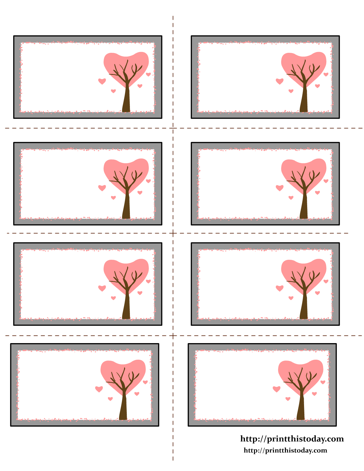 Love Tree Valentine Labels  Free Label Templates Templates With Regard To Free Printable Valentine Templates