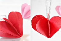 Paper Heart D For Decorationdiy Crafts  Paper Hearts Design Valentine's  Day Tutorial Intended For Paper Heart Flower Craft With Template