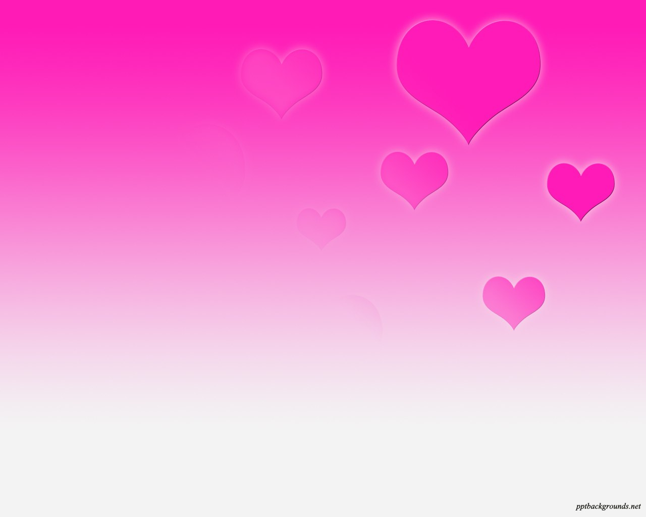 Pink Background Heart Patterns Backgrounds For Powerpoint In Free Love Heart Ppt Template