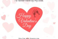 Romantic Hearts Valentine's Day Card Template Within Valentine's Day Card Printable Templates