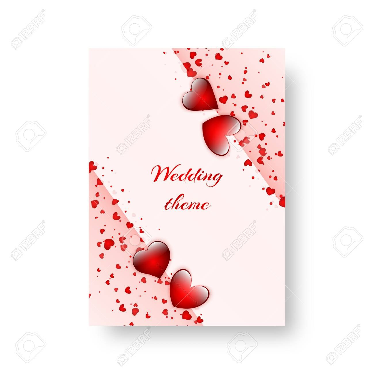 Romantic Invitation Template For St Valentine's Day Or Birthday Within Valentine Party Invitation Template