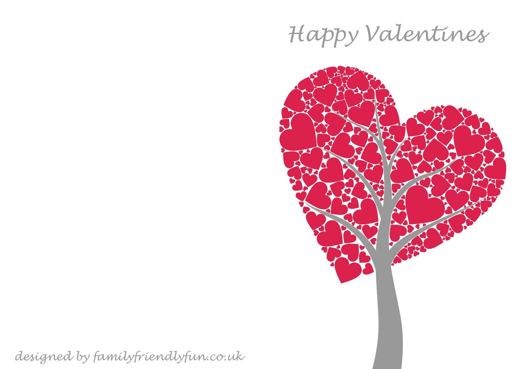 Templates For Greeting Cards At Home Cards Greeting Regarding Valentine's Day Card Printable Templates