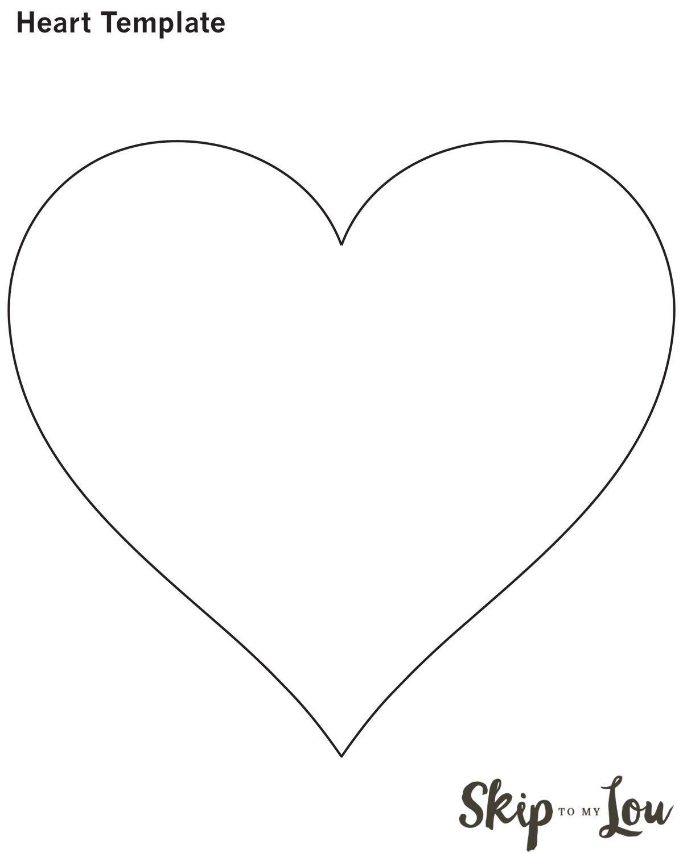 Valentine Heart Attack  Printable Heart Template Heart For Valentine Heart Attack Idea With Free Printable Heart Template