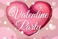 Valentine Party Invitation Layout For Valentine Party Invitation Template