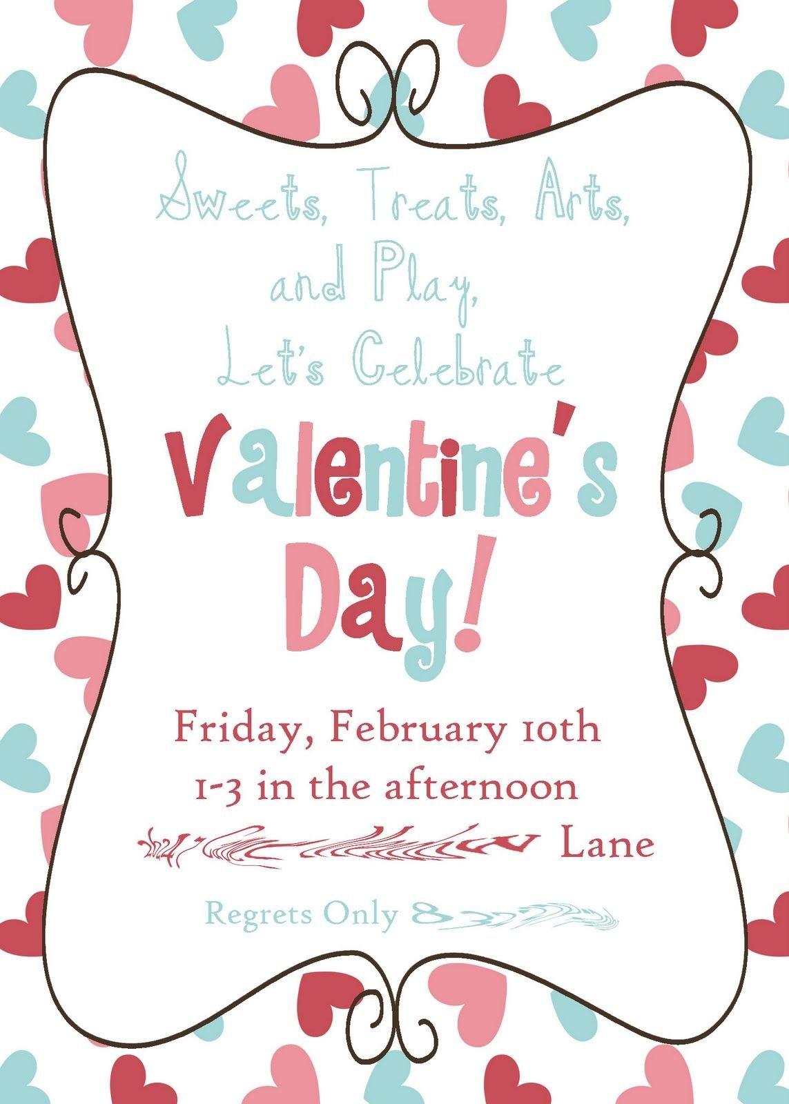 Valentine Party Invitation Templates  Cloud Invitation Pertaining To Valentine Party Invitation Template