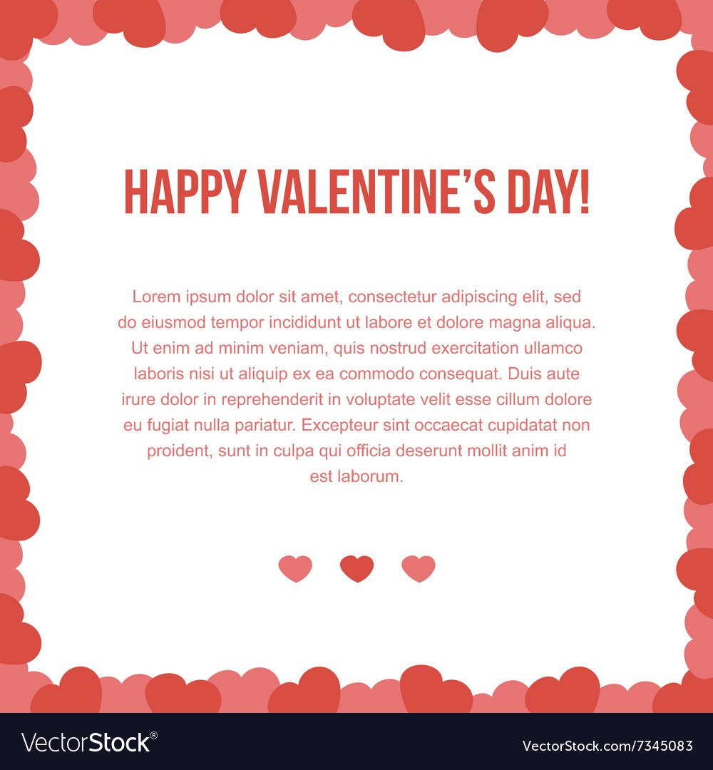 Valentines Day Card Template Pertaining To Valentine's Day Card Printable Templates