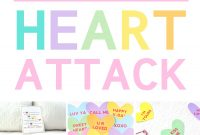 Valentine's Day Heart Attack Lawn Signs  From The Dating Divas Throughout Valentine Heart Attack Idea With Free Printable Heart Template